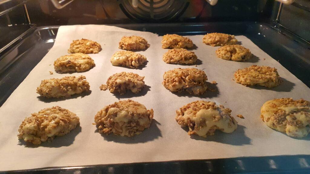 Biscotti Corn Flakes in forno