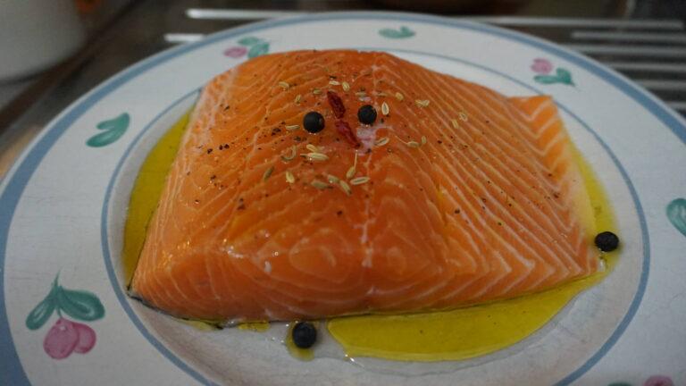 Salmone cotto a bassa temperatura
