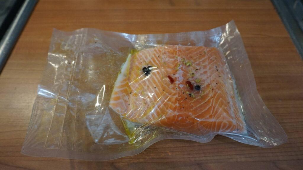 Salmone imbustato in CBT